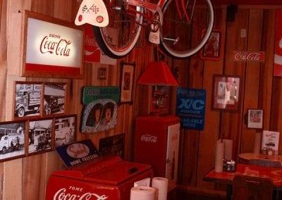 Hanging Coke Bike at Sandy's Pizza