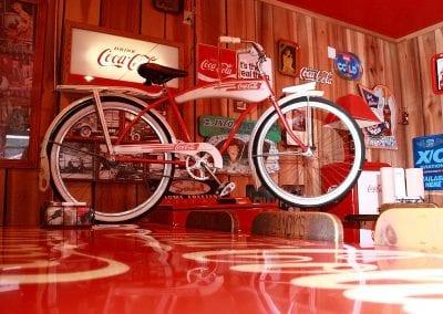 Coke Bike At Sandy's Pizza