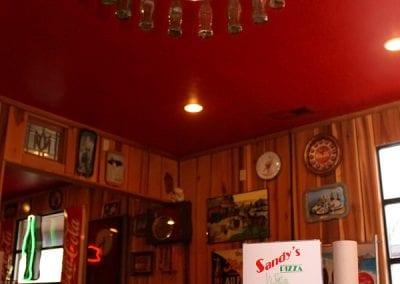 Coke Lamp at Sandy's Pizza